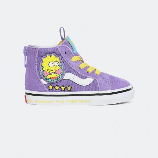 Vans x The Simpsons Sk8-Hi Zip Βρεφικά Παπούτσια