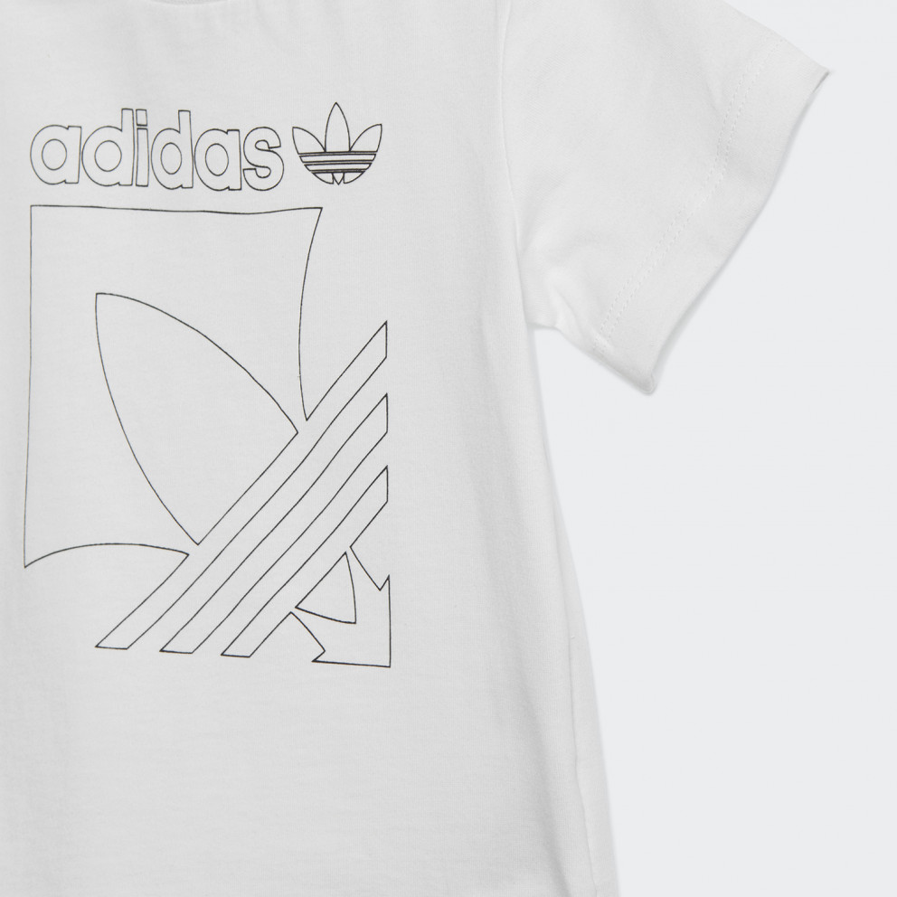 adidas Originals Badge Shorts And Tee Kid's Set