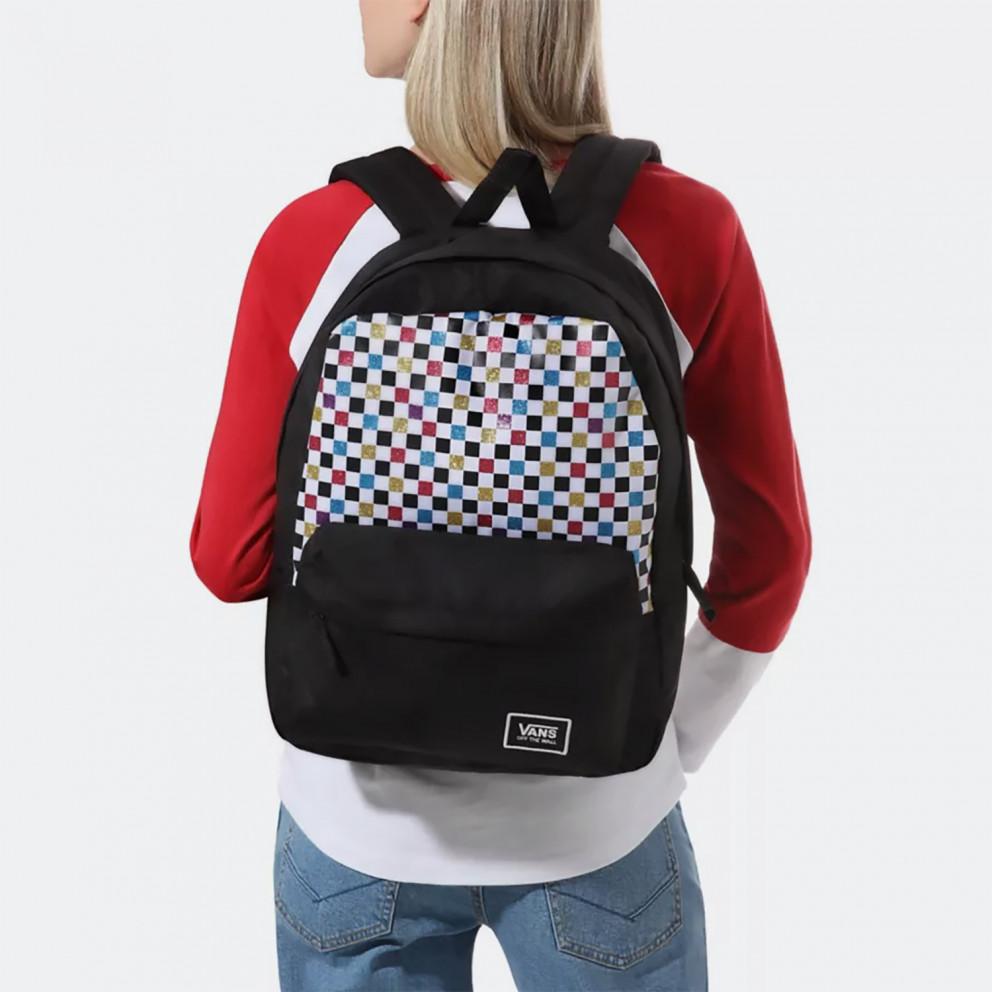 Vans Glitter Check Realm Women's Backpack 22L