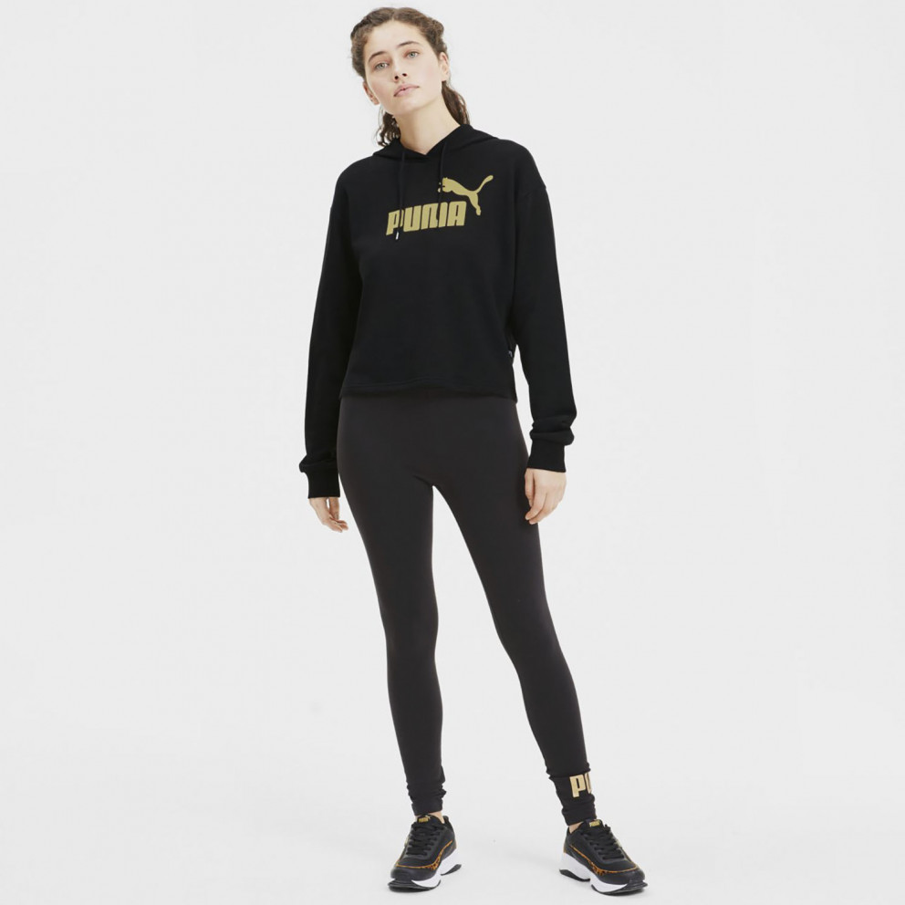 Puma Essentials+ Metallic Women's Cropped Hoodie