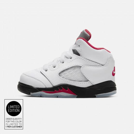 """Air Jordan Retro 5 """"fire Red"""" Infants' Shoes"""