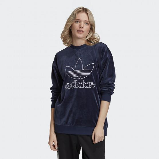 adidas Originals Velour Trefoil Crew Women's Sweatshirt