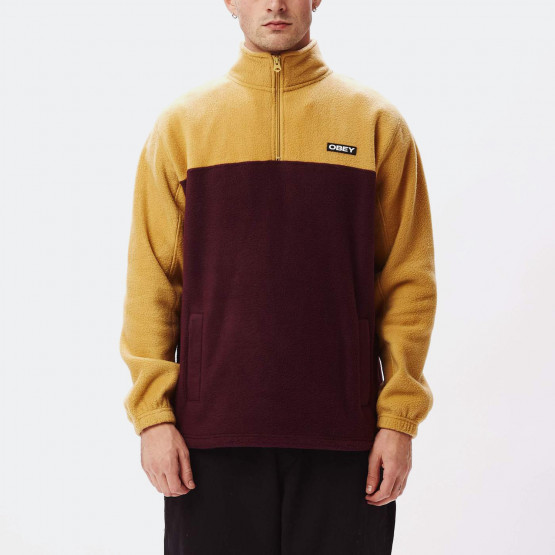 Obey Eulogy Mock Neck Zip Fleece