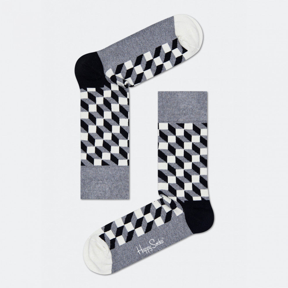 Happy Socks Classic Black And White Gift Box 4-Pack Κάλτσες