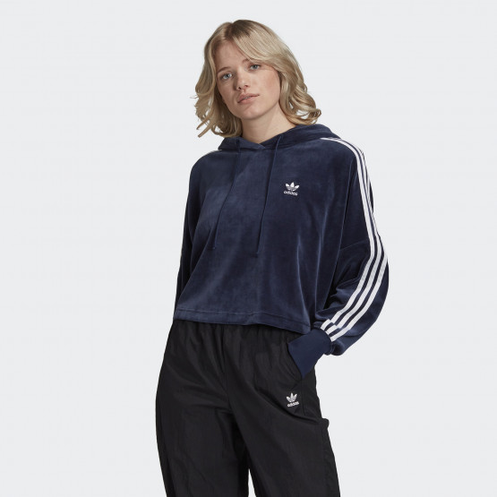 adidas Originals Cropped Velour Γυναικείο Φούτερ