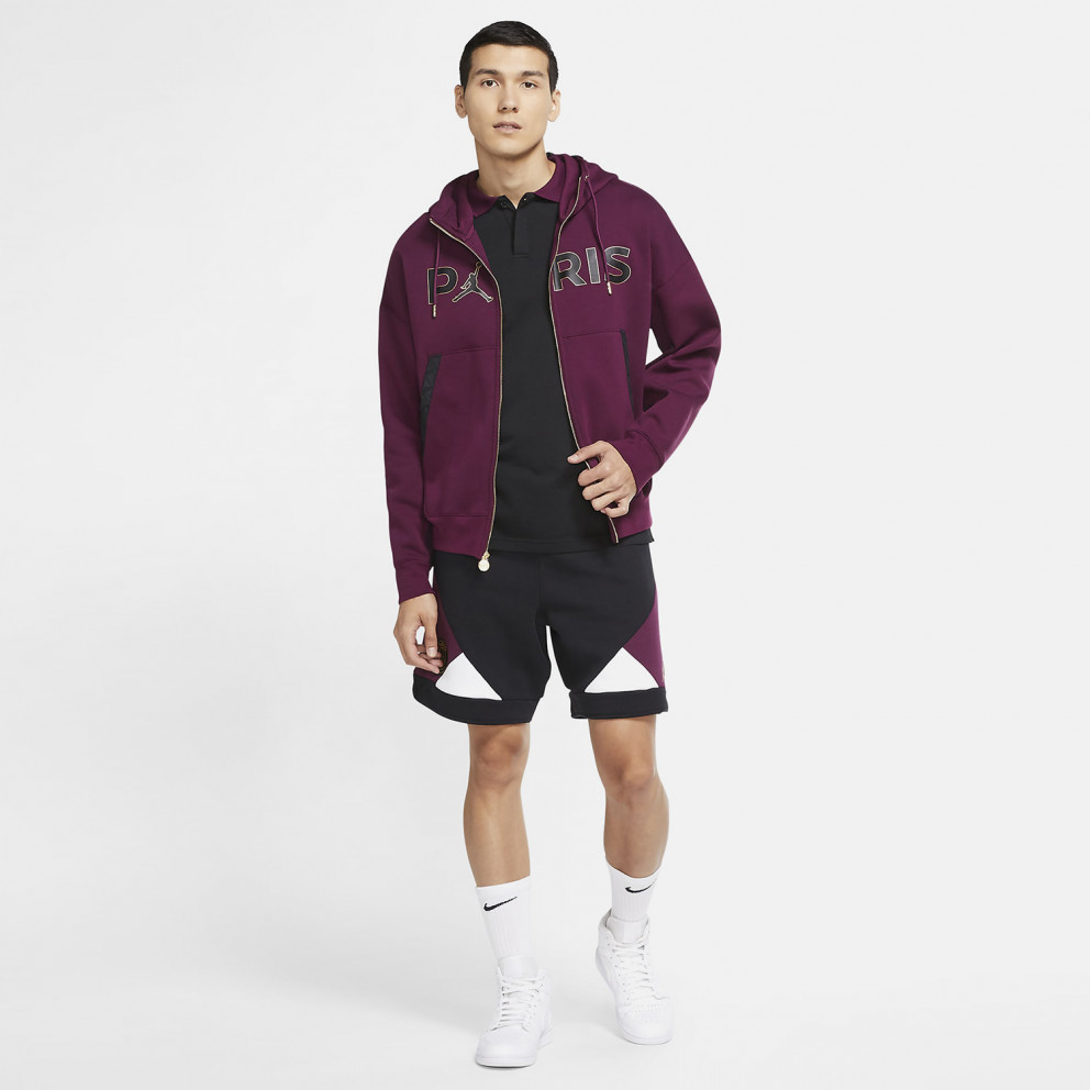 Jordan x PSG Aνδρική Ζακέτα με Κουκούλα