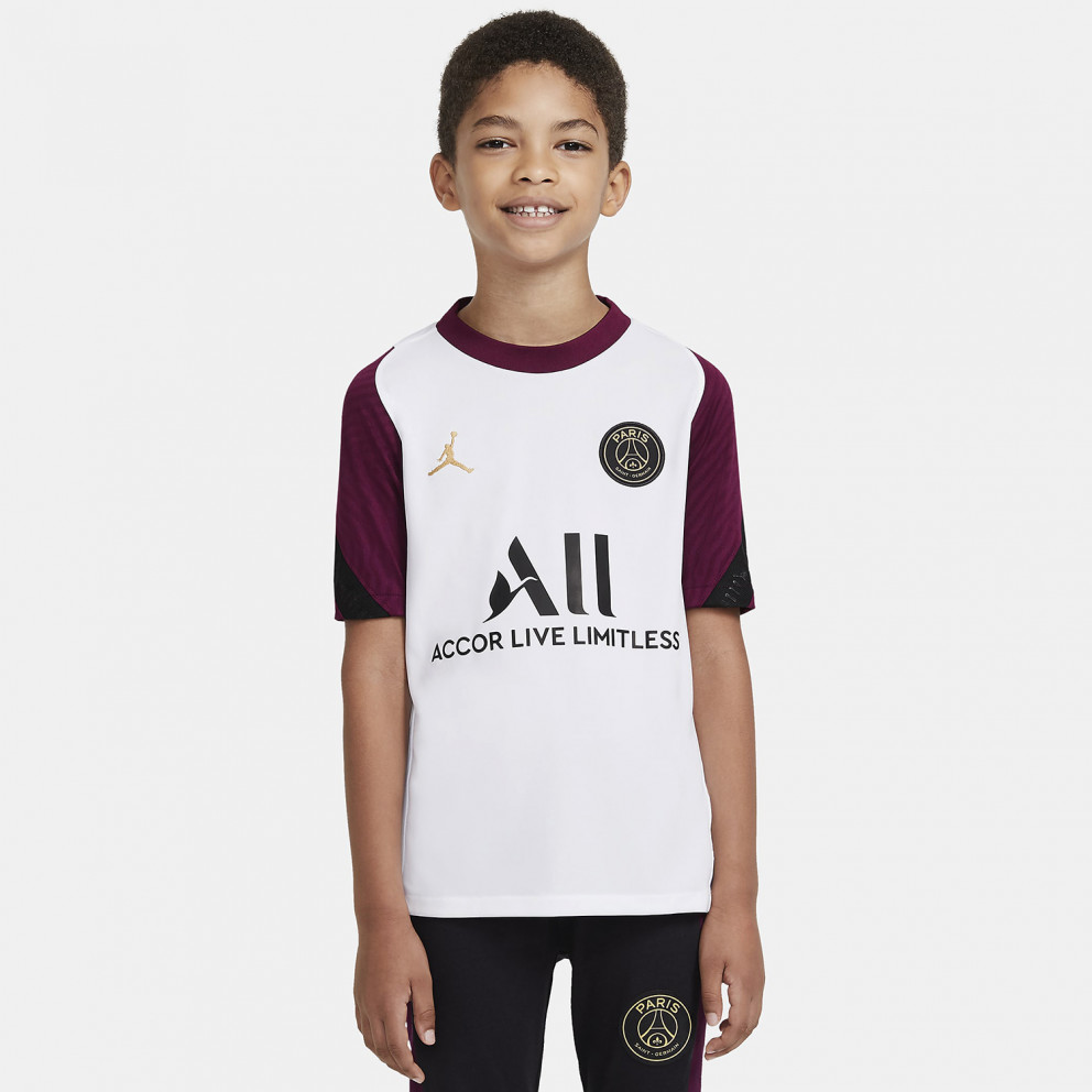 Nike Paris Saint-Germain Strike Older Kids' Short-Sleeve Football Top