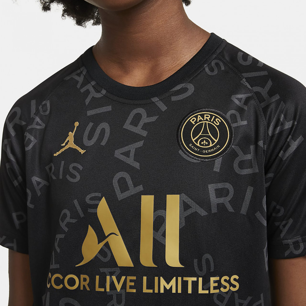 Nike Paris Saint-Germain Κοντομάνικη Ποδοσφαιρική Μπλούζα Προθέρμανσης για Μεγάλα Παιδιά