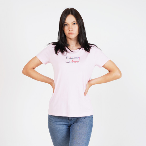 Tommy Jeans Outline Flag Γυναικείο T-Shirt