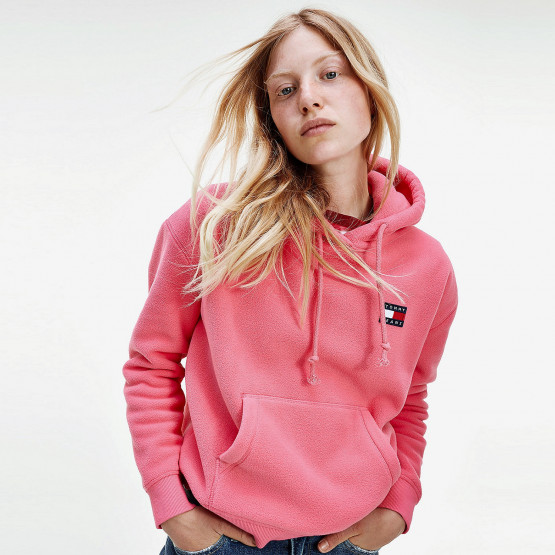Tommy Jeans Badge Polar Fleece Women's Hoodie