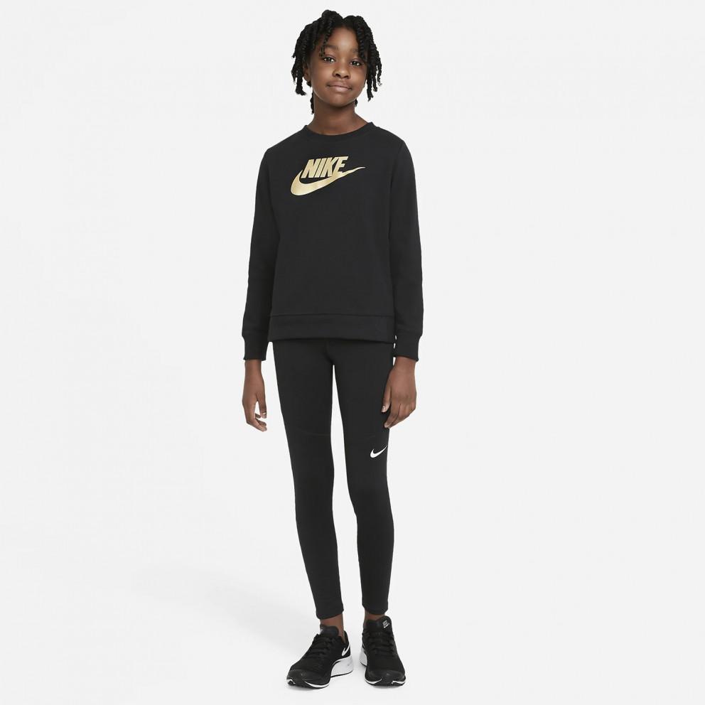 Nike Sportswear Shine Ft Crew Q5 Παιδικό Φούτερ