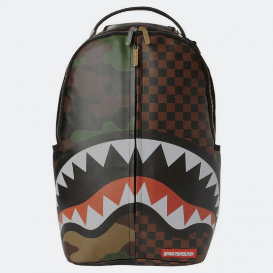 Sprayground Checks & Camo Split Backpack