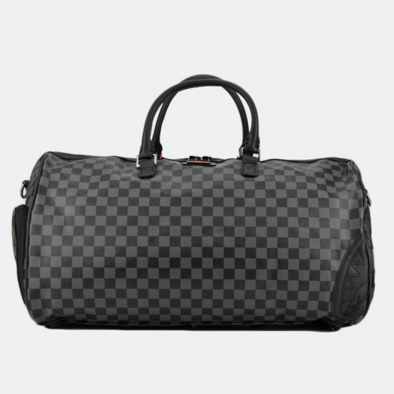 Sprayground Henny: Black Checkered Duffle Bag