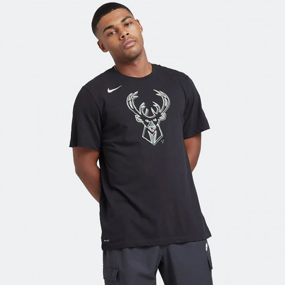 Nike NBA Milwaukee Bucks Logo Dri-FIT Ανδρικό T-Shirt