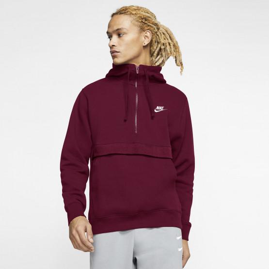 Nike Sportswear Club Ανδρική Μπλούζα με Κουκούλα και Φερμουάρ στο Μισό Μήκος
