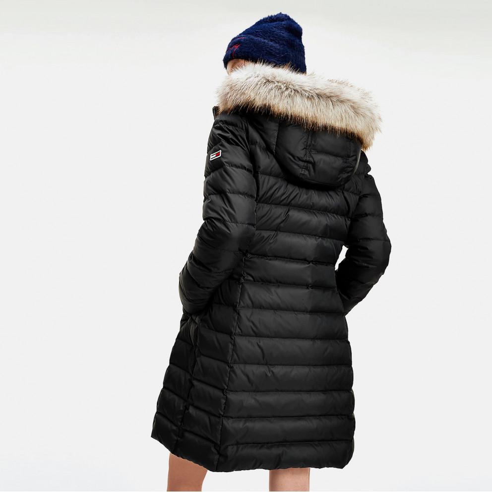 Tommy Jeans Essential Hooded Down Γυναικείο Μπουφάν