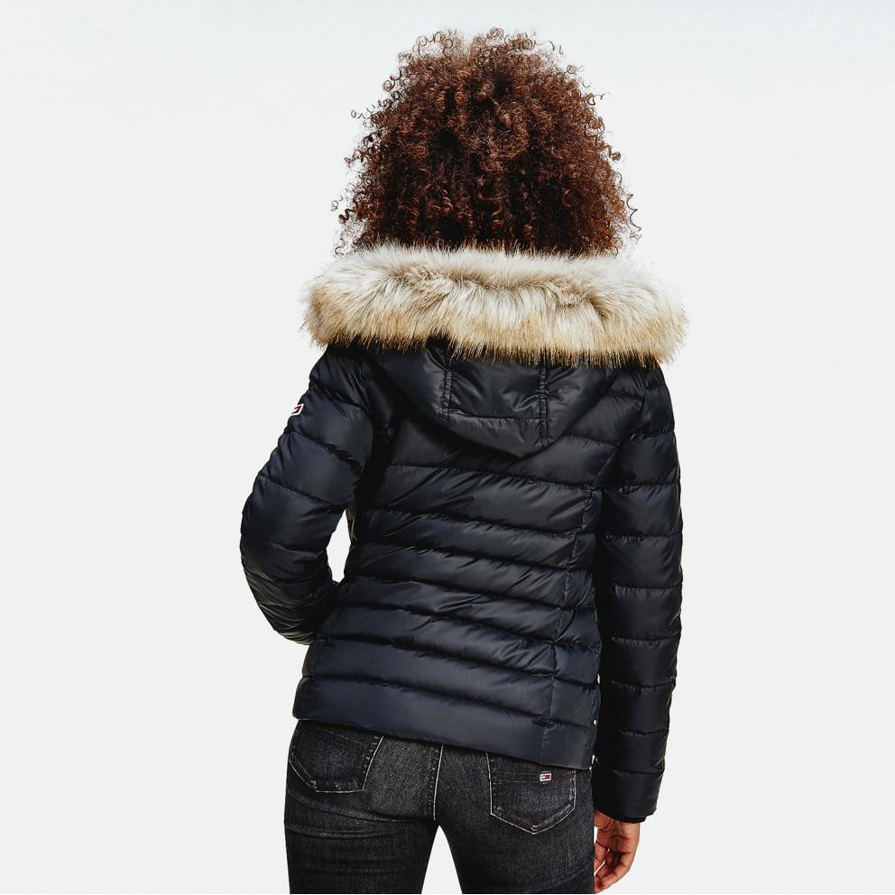 Tommy Jeans Basic Hooded Down Γυναικείο Μπουφάν