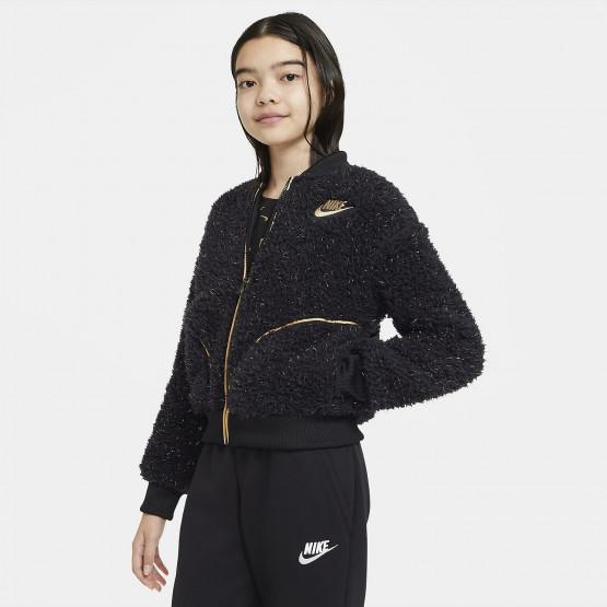 Nike Sportswear Full-Zip Sherpa Παιδικό Μπουφάν