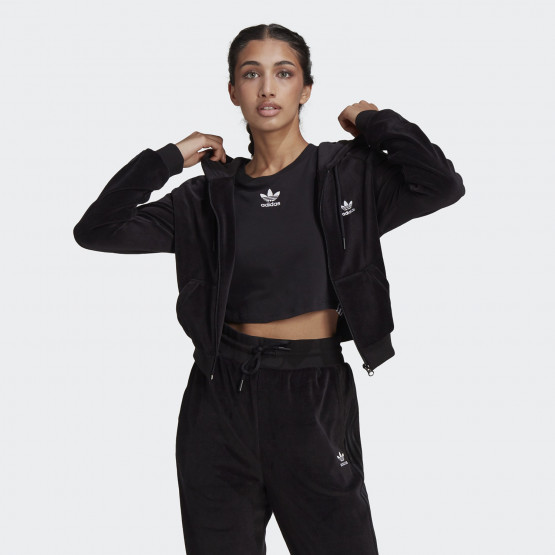 adidas Originals Crop Velour Women's Jacket