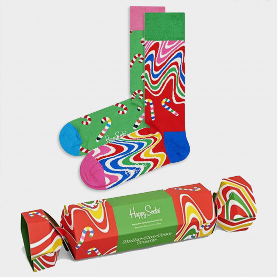 Happy Socks 2-Pack Psychedelic Candy Cane Socks Gift Set