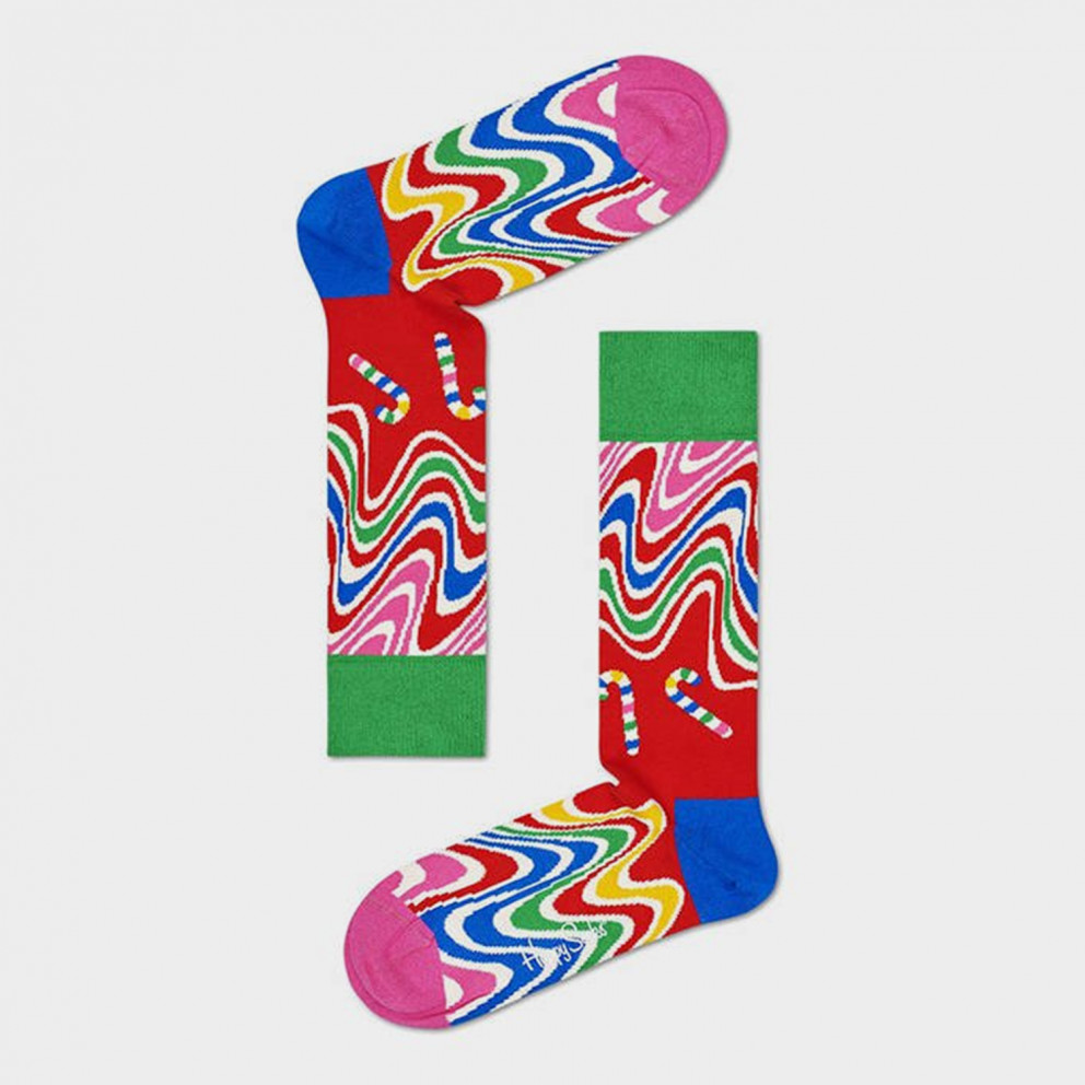 Happy Socks 2-Pack Psychedelic Candy Cane Gift Set Κάλτσες