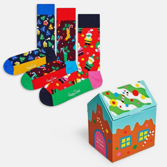 Happy Socks 3-Pack Holiday Socks Gift Set
