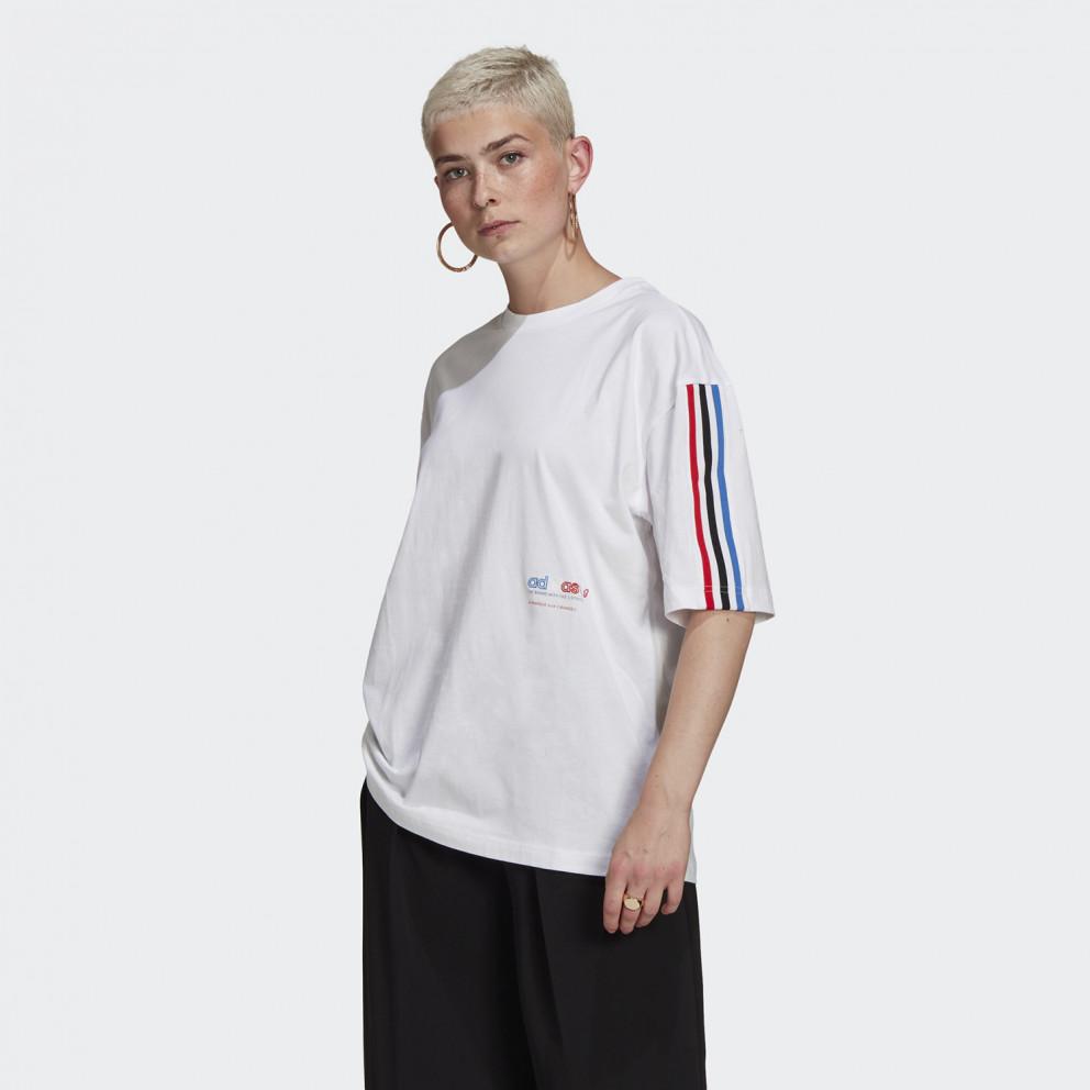 adidas Originals Adicolor Ticolor Oversized Γυναικείο T-Shirt