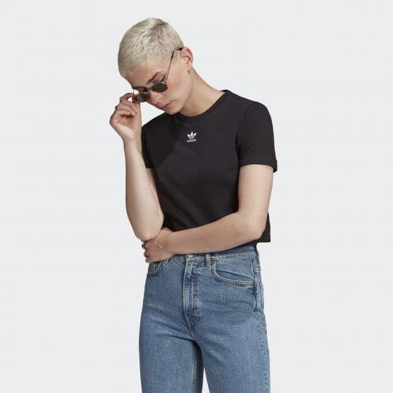 adidas Originals Adicolor Classics Roll-Up Sleeve Crop Top Γυναικείο T-Shirt