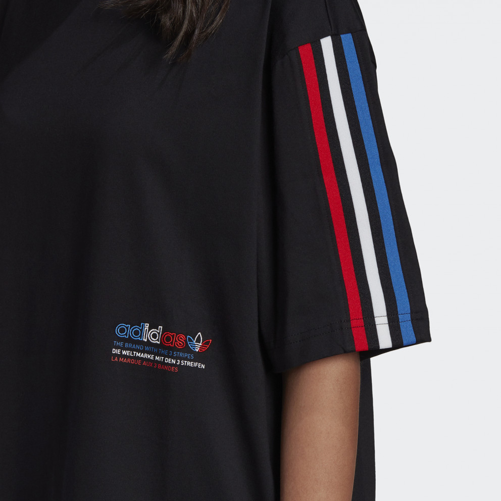 adidas Originals Adicolor Tricolor Oversized Γυναικείο T-Shirt