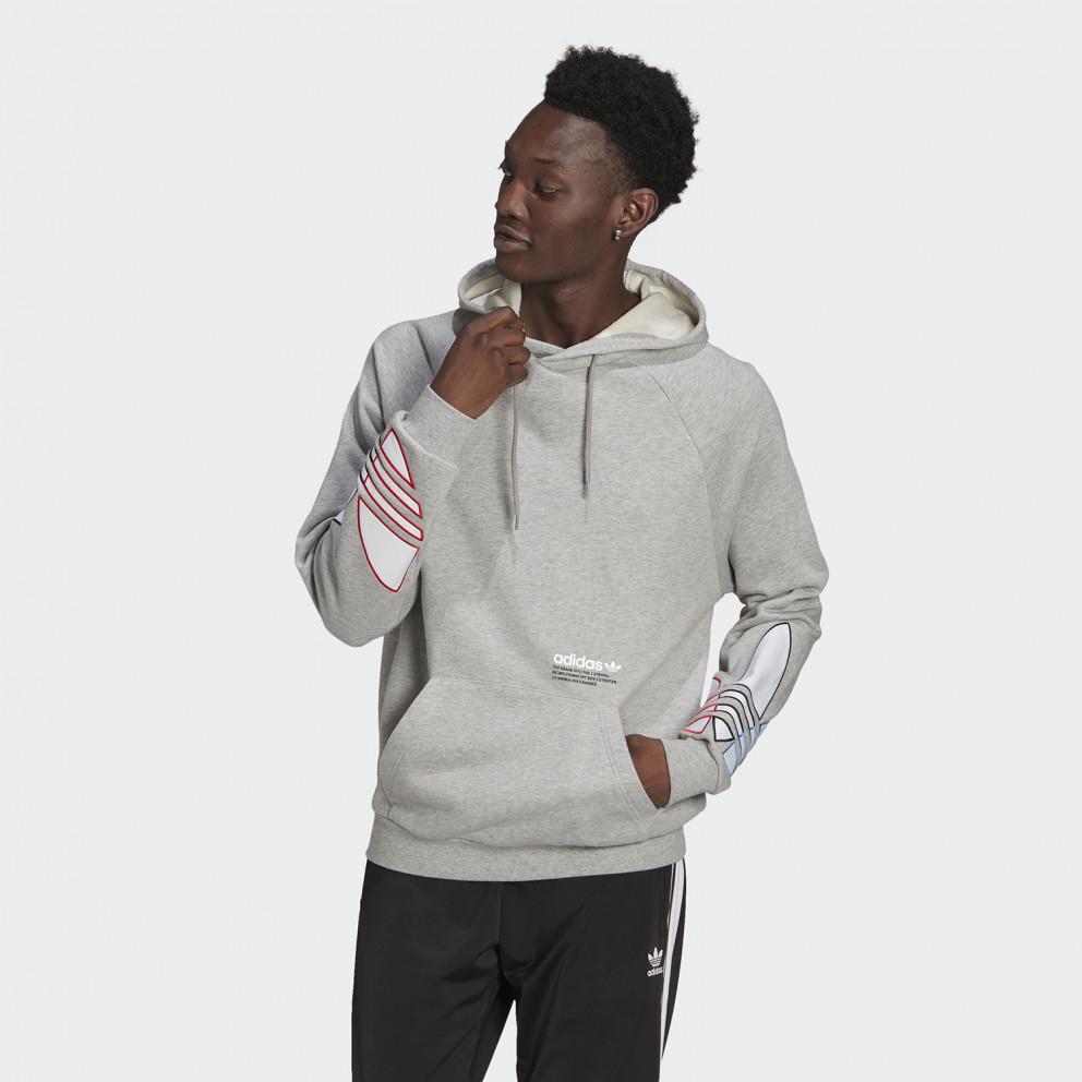 adidas Originals Adicolor Tricolor Trefoil Ανδρικό Φούτερ με Κουκούλα
