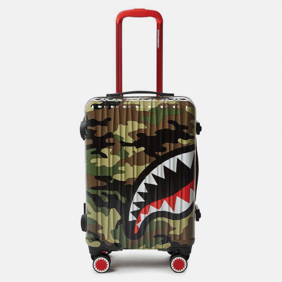 "Sprayground 22"" Camo Shark Mouth Carry-On Luggage"