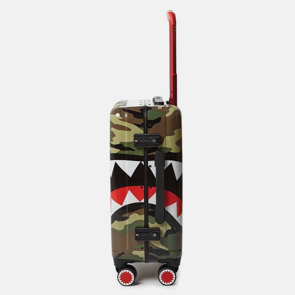 "Sprayground 22"" Camo Shark Mouth Carry-On Tσάντα Ταξιδιού"
