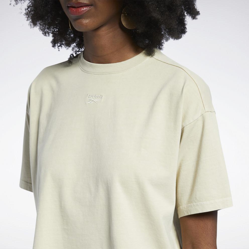 Reebok Classics Natural Dye Γυναικεία Crop Μπλούζα