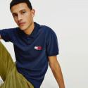 Tommy Jeans Badge Ανδρικό Πόλο T-shirt