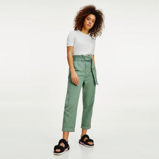Tommy Jeans Paperbag Waist Γυναικείο Cargo Παντελόνι (Μήκος 30L)