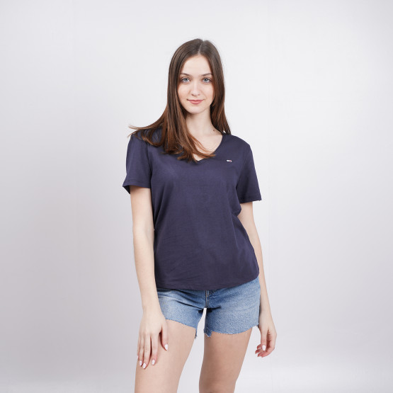 Tommy Jeans V-Neck Γυναικεία Μπλούζα