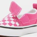 Vans Slip-On V Crib (Checker) Βρεφικά Παπούτσια