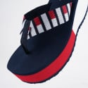 Tommy Jeans Flag Webbing High Beach Γυναικεία Σανδάλια