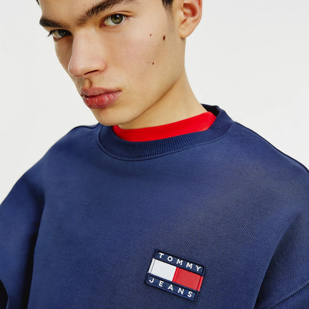 Tommy Jeans Tommy Badge Crew Neck Ανδρικό Φούτερ