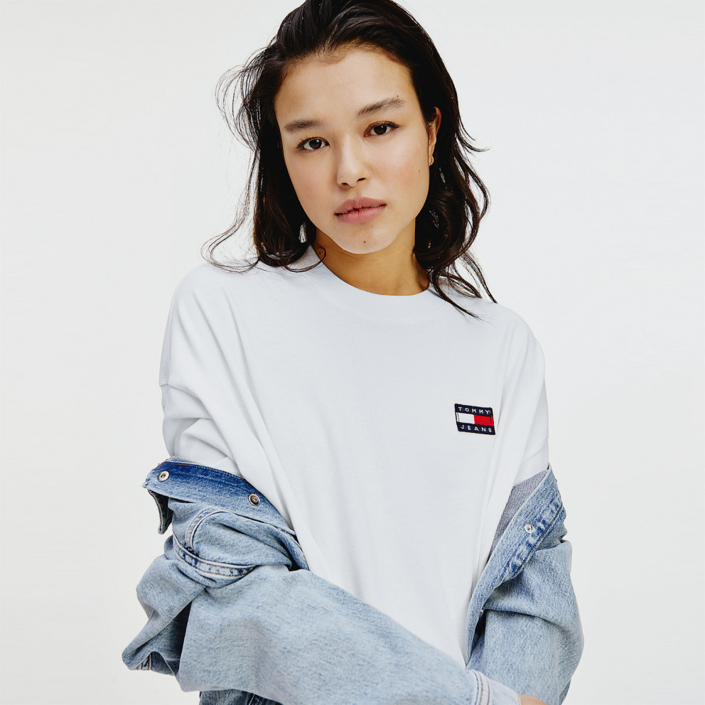 Tommy Jeans Oversized Badge Tee Γυναικείο Φόρεμα