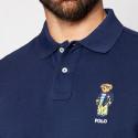Polo Ralph Lauren Custom Slim Fit Polo Bear Ανδρική Polo Μπλούζα