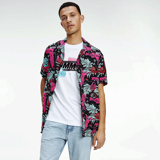 Tommy Jeans Miami Print Camp Men's Shirt