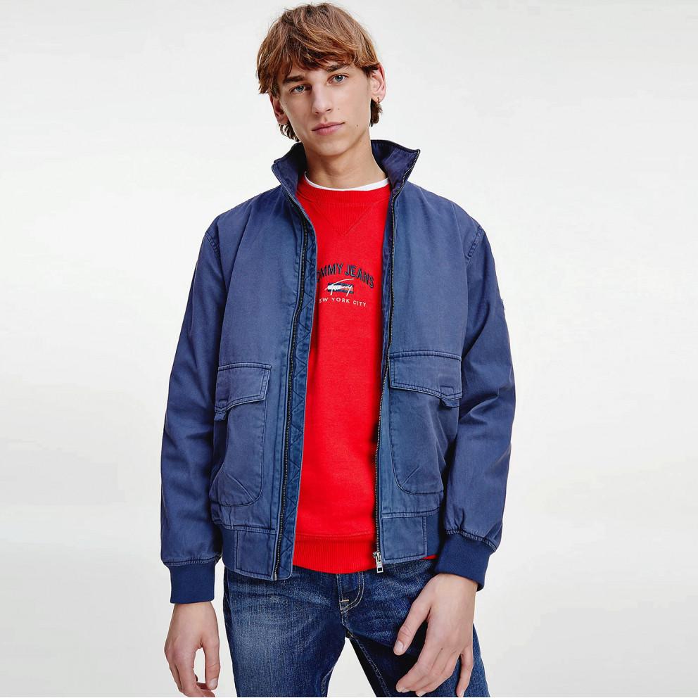 Tommy Jeans Cotton Flag Collar Men's Bomber Jacket
