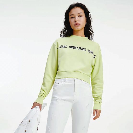 Tommy Jeans Regular Cropped Γυναικείο Φούτερ