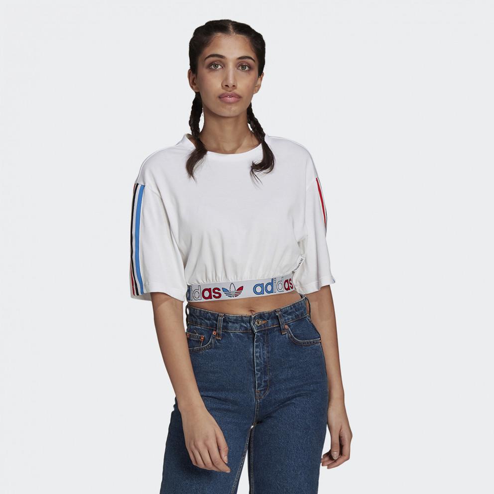 adidas Originals Adicolor Primeblue Tricolor Women's Cropped T-Shirt