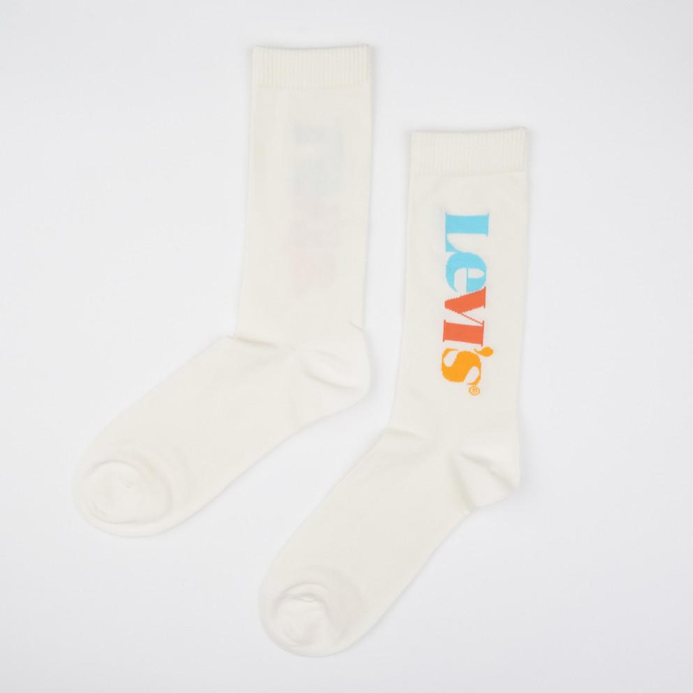Levis Unisex Vertical Logo Unisex Socks - 2 Pack