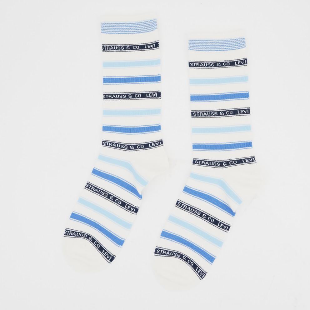 Levis Unisex Label Stripe Regular Cut Unisex Socks - 2 Pack