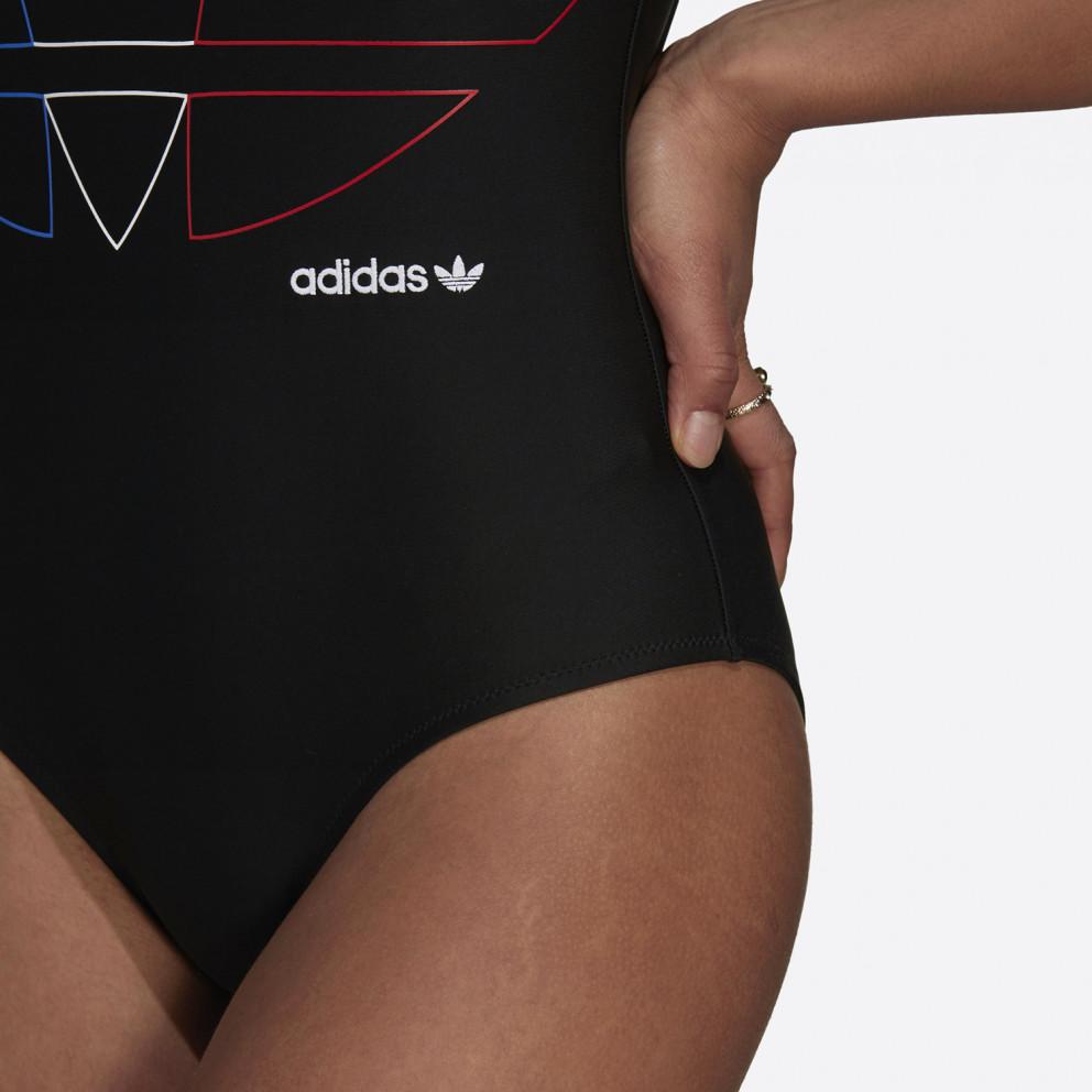 adidas Originals Adicolor Primeblue Tricolor Trefoil Women's Swimsuit