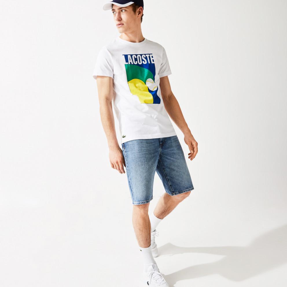 Lacoste SPORT Breathable Graphic Prin Men's T-shirt