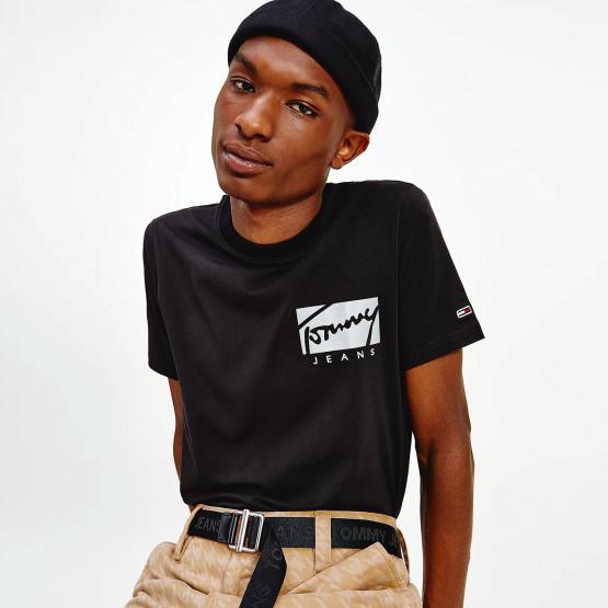 Tommy Jeans Script Box Logo Ανδρικό T-Shirt
